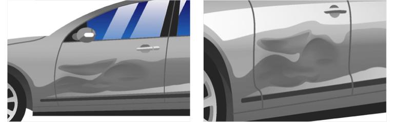 Общий вид автомобиля с четырех углов